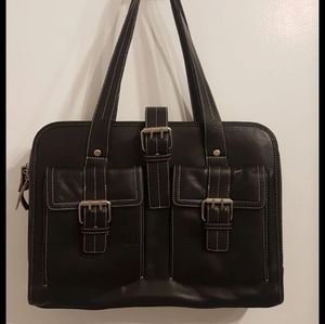 franklin covey genuine leather laptop bag